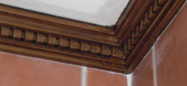 Imitación a madera  en escayola y en hierro por Pintura Industrial y Decorativa A. Barranquero