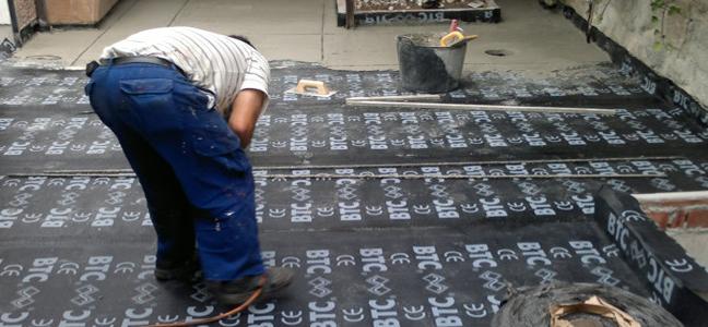 Impermeabilización por humedad con tela asfáltica por Pintura Industrial y Decorativa A. Barranquero Málaga