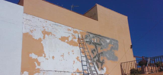 Rehabilitación de fachada por Pintura Industrial y Decorativa A. Barranquero Fuengirola
